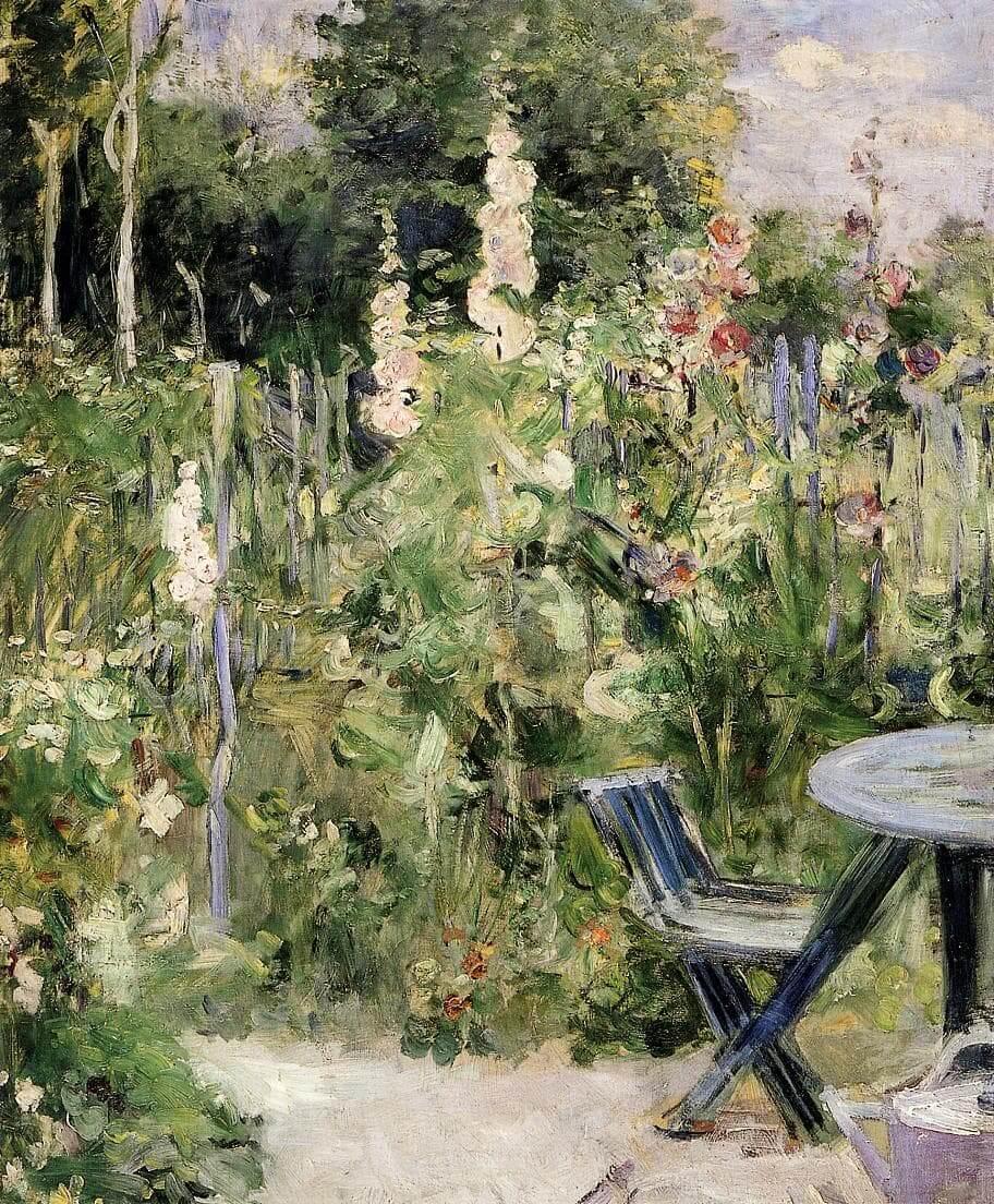 «Malvarrosas», de Berthe Morisot